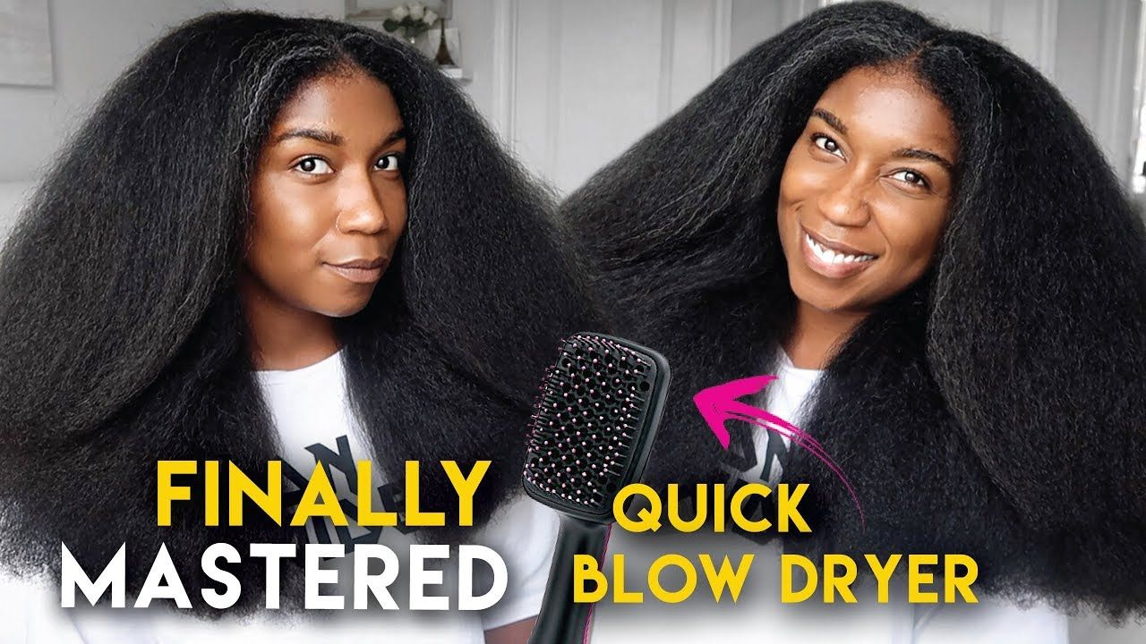 IuM OBSESSED My QUICK BLOW OUT Routine Using Revlon Salon One Step