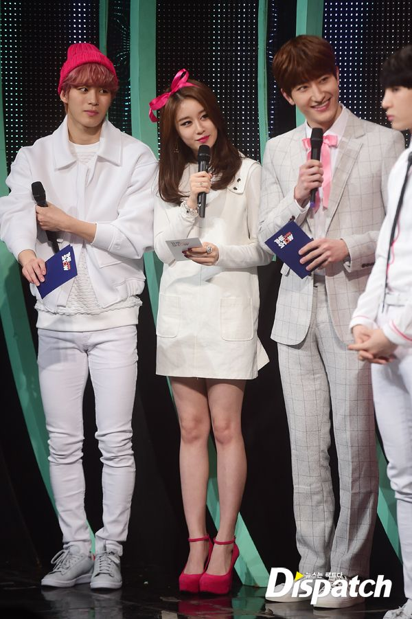 HongBin - Jiyeon - Zhoumi MC @ SBS MTV The Show