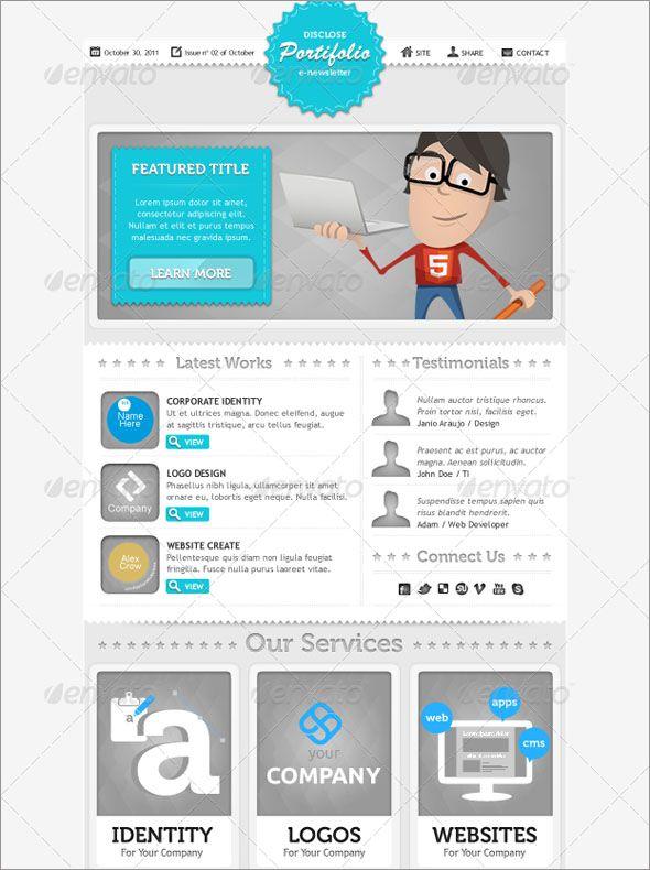100 New Business E Newsletter Template Designs Mytemplatedesigns