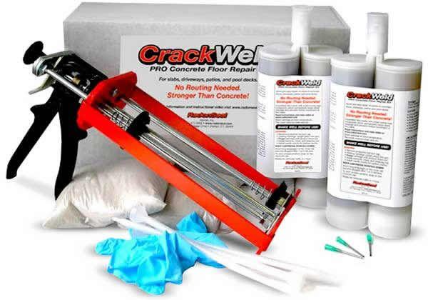 Crackweld Pro Floor Repair Kit Concrete Epoxy Concrete Floor Repair Repair Cracked Concrete