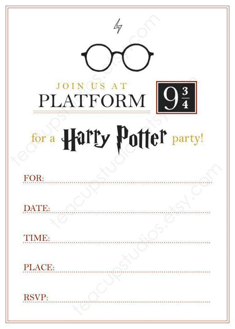 Harry Potter Kindergeburtstag Einladungskartenharry Potter Geburtstag Einladungskarten Harry Potter Selber Machen Harry Potter Thema Harry Potter Halloween