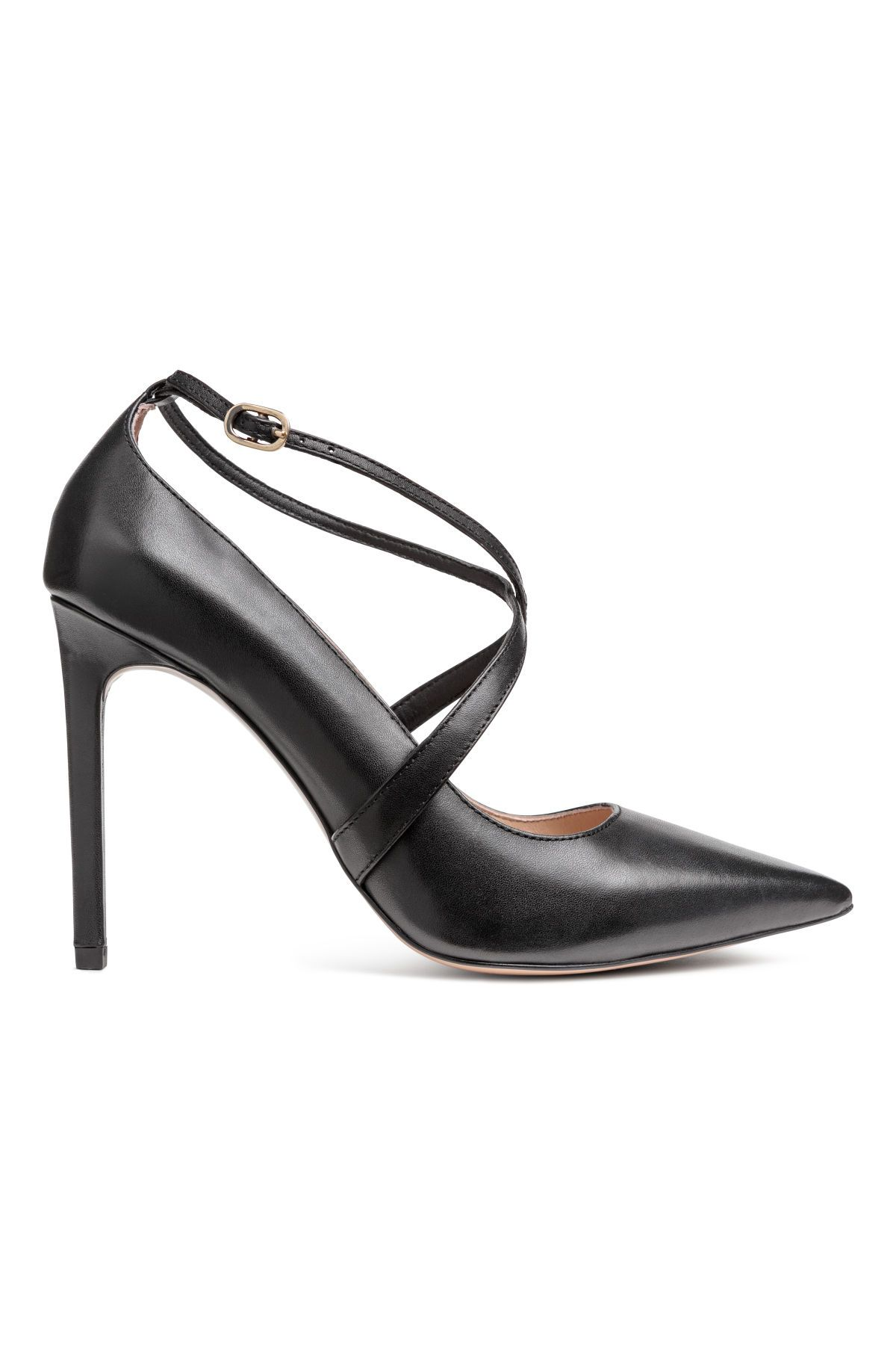 654b109fdae7b Pumps | Black/leather | WOMEN | H&M US | Shoes | Shoes, Court shoes ...