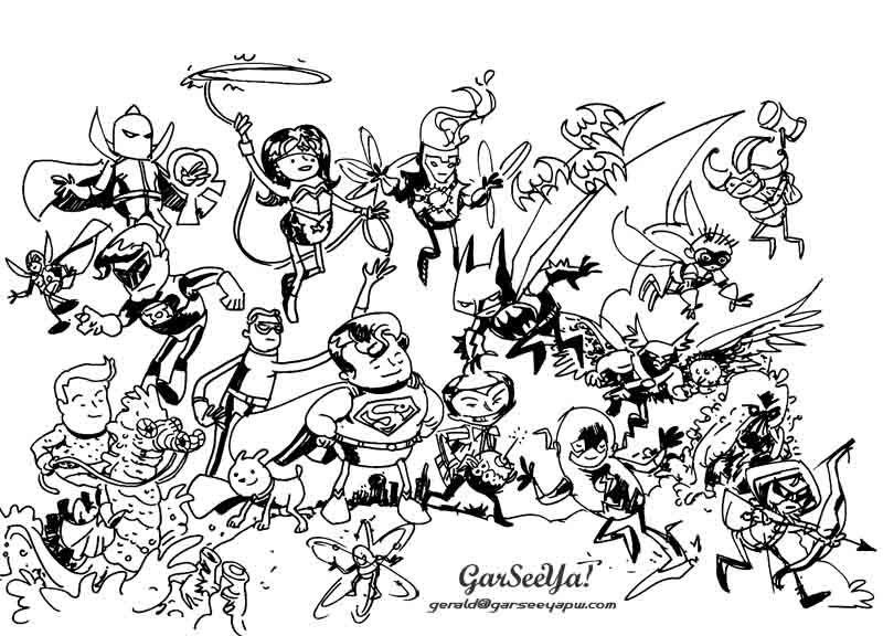 Attrayant Coloriage Super Heros Dc Comics 30 (800×