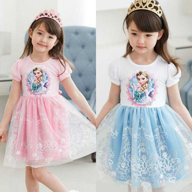 Little Baby Girls Elsa Anna Easter Rapunzel Dress Customes Kids Clothes Toddler Children Resale Clothing Lace