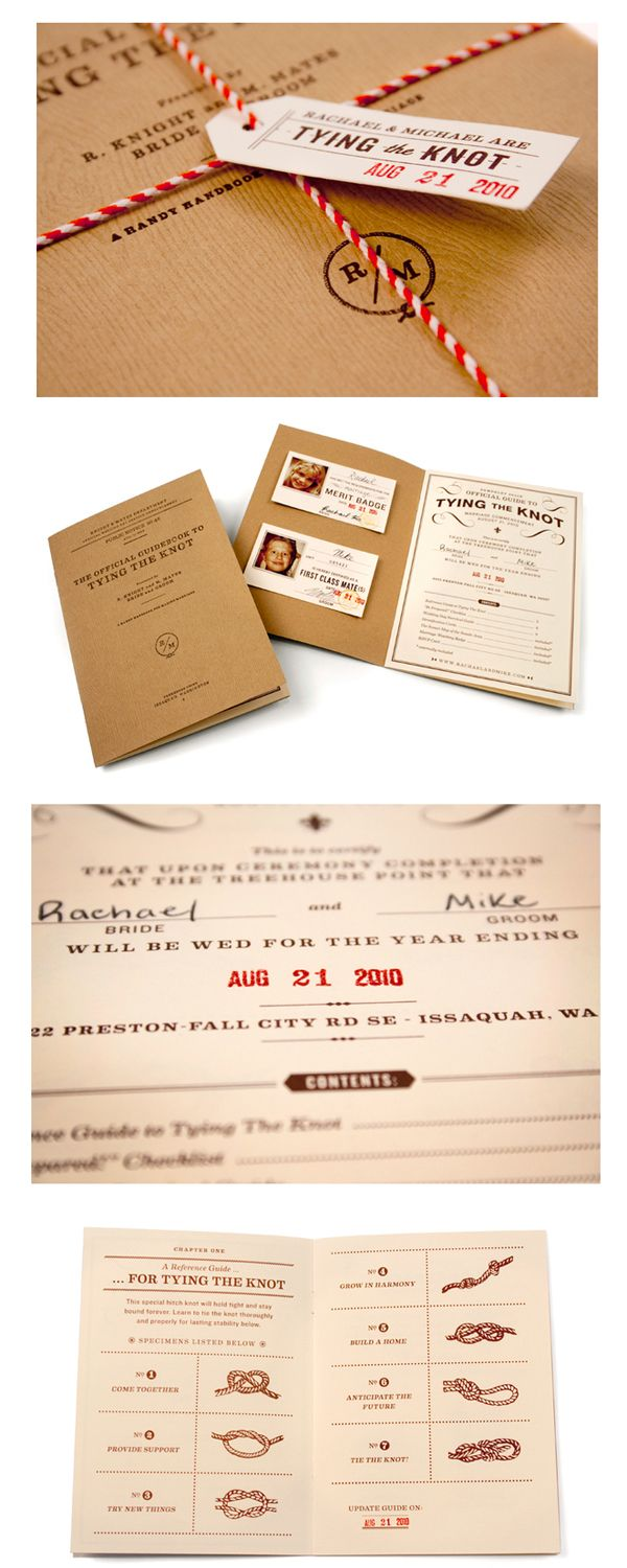 passport style wedding invitations (G- I like the tying the knot ...