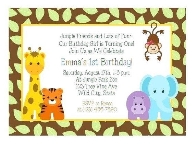 Pin By Velova Secunda On Party Ideas First Birthday Invitations