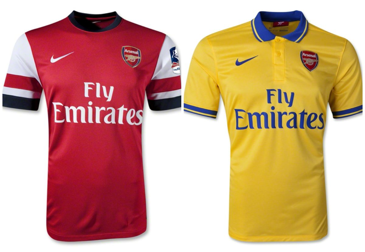 new arrivals de606 86036 Arsenal Football Club - Arsenal F.C 13/14 Home and Away ...