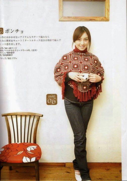 PATRONES GRATIS DE CROCHET: Patrón de un lindo poncho con cuadros g ...