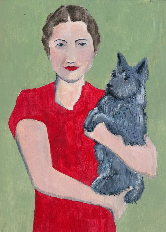 Socialite with Scottie Dog ~ Julia Wright