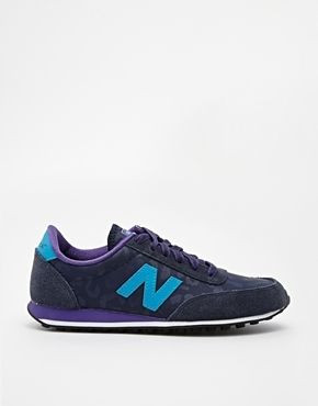 New Balance 410 Suede Mix Navy & Purple Sneakers | for my