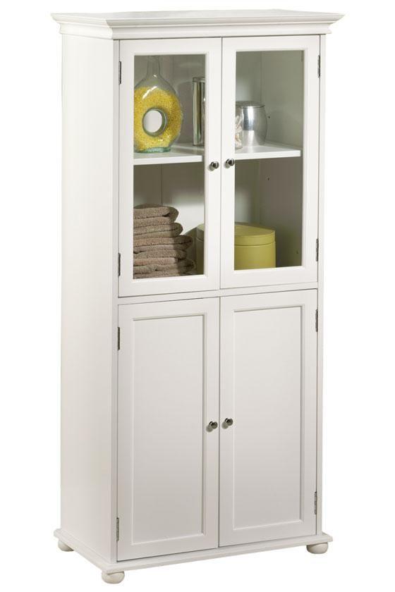 Hampton Bay 25 W Four Door Tall Cabinet 53 H X 25 W X 14 D
