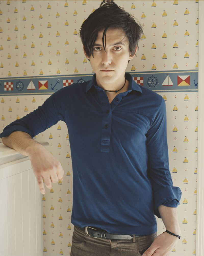 Conor Oberst And The Wallpaper From Which His Tiny Sailboat Tattoo