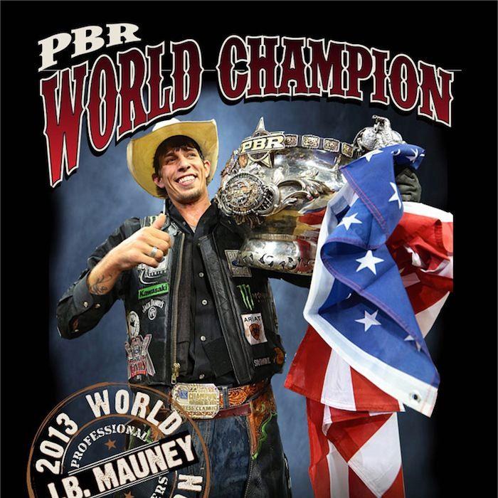 e11044eb J.B. Mauney 2013 World Champion Flag Shirt | The Official Professional Bull  Riders Shop | Store