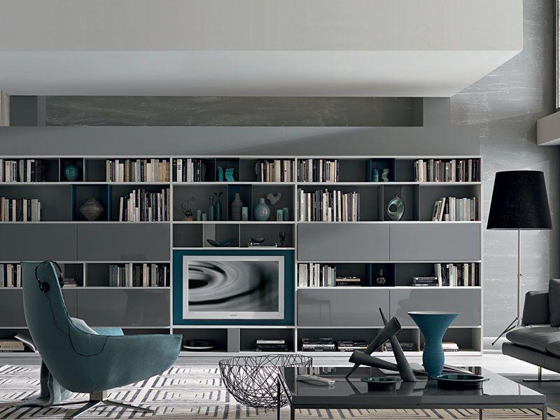 Librerie Per Arredare Soggiorno.Elegante Nel Suo Stile Minimal Ed Essenziale Soggiorno Nel