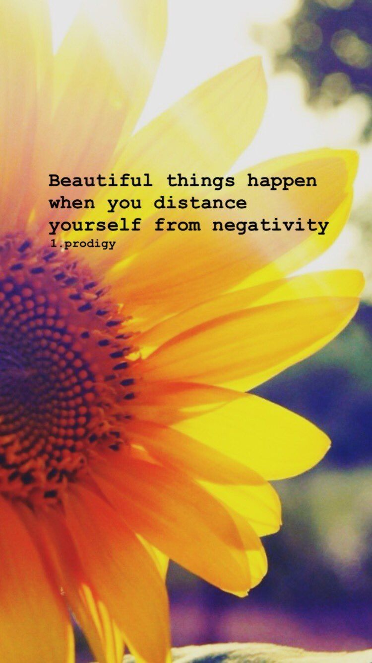 Beautiful things happen when you distance yourself from