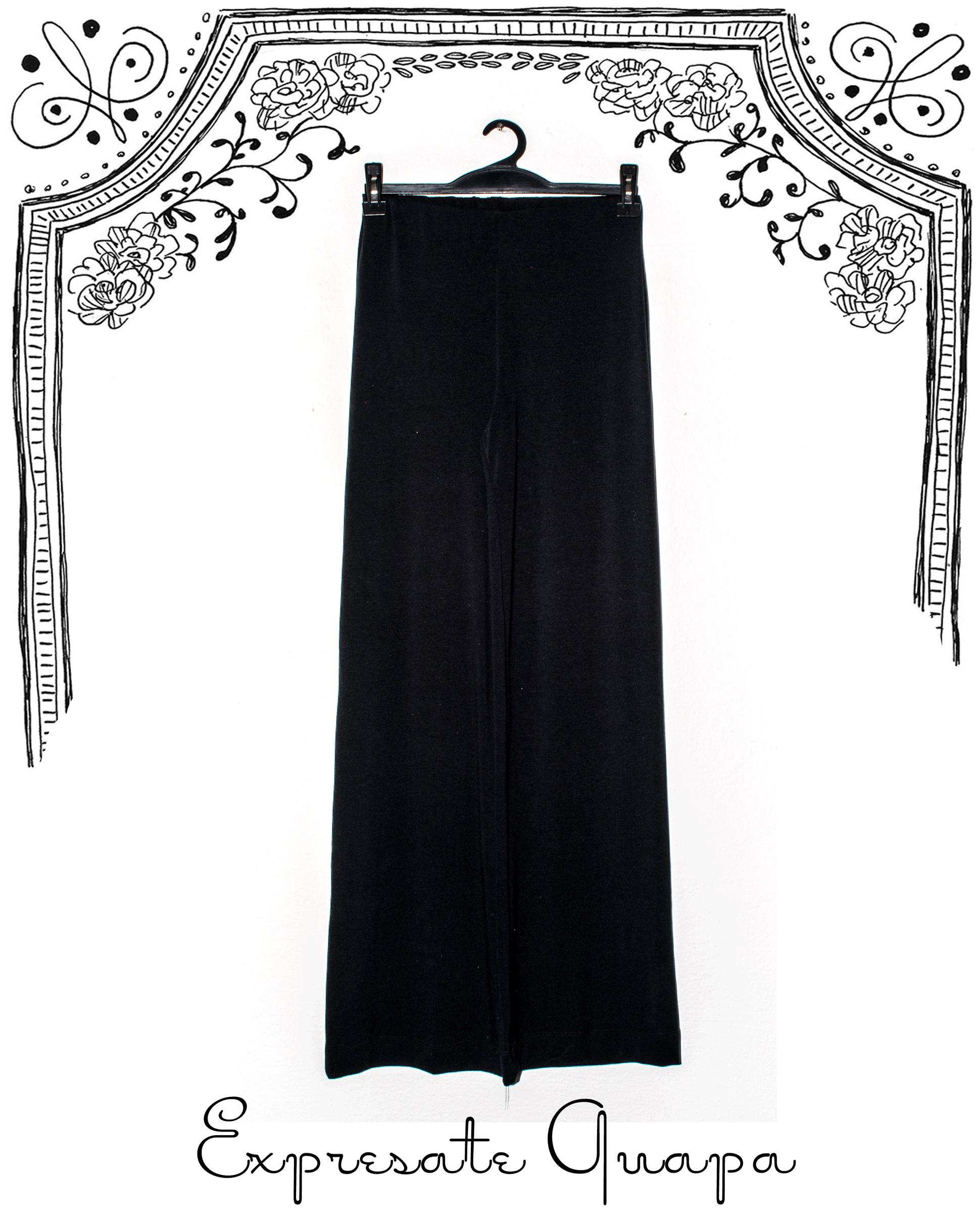 Pantalon de Modal Oxfort T.U. Negro