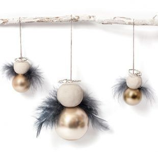 Anleitung: Engel aus Weihnachtskugeln basteln