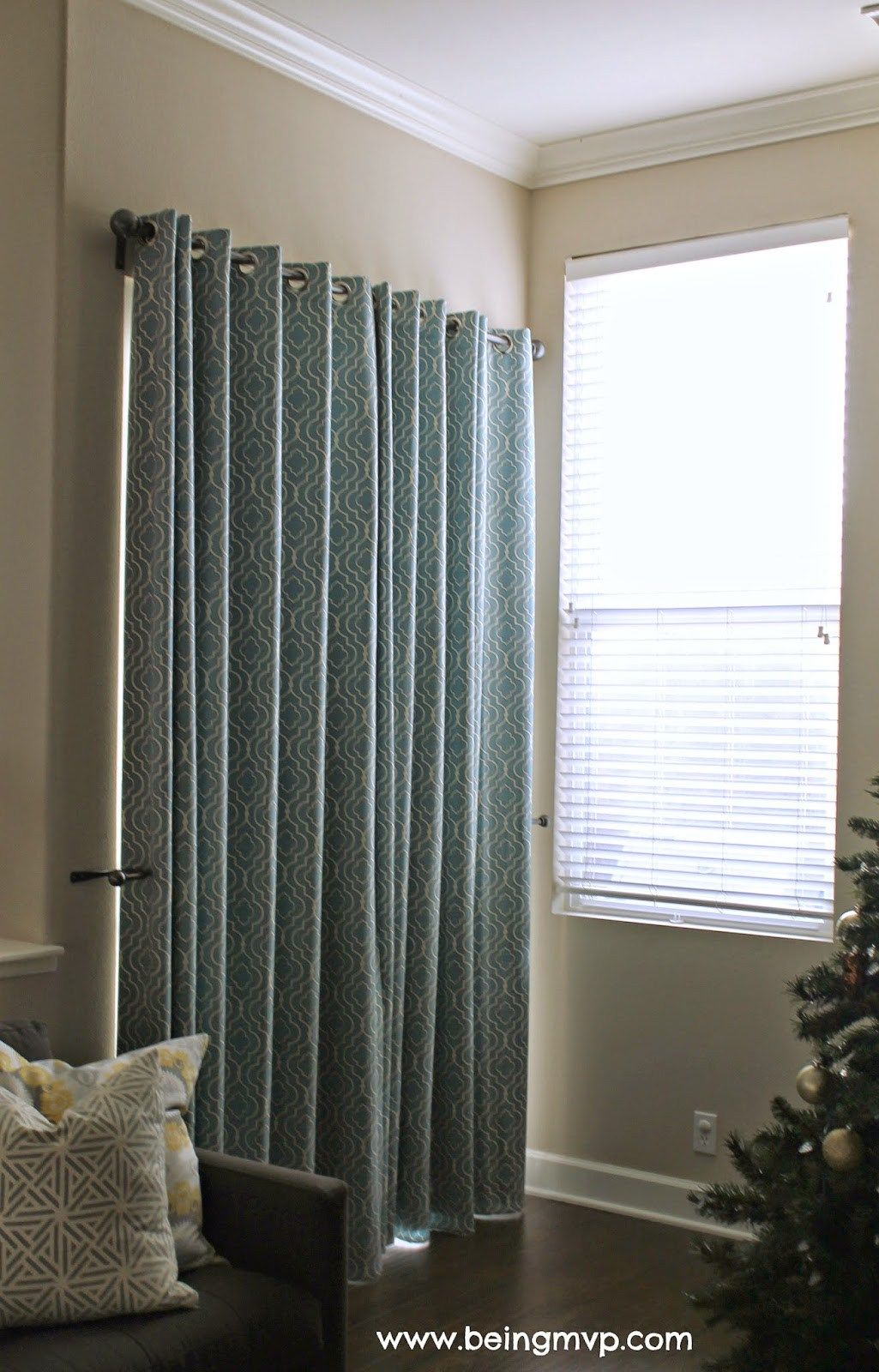 Window coverings for sliding glass doors that are actually cute