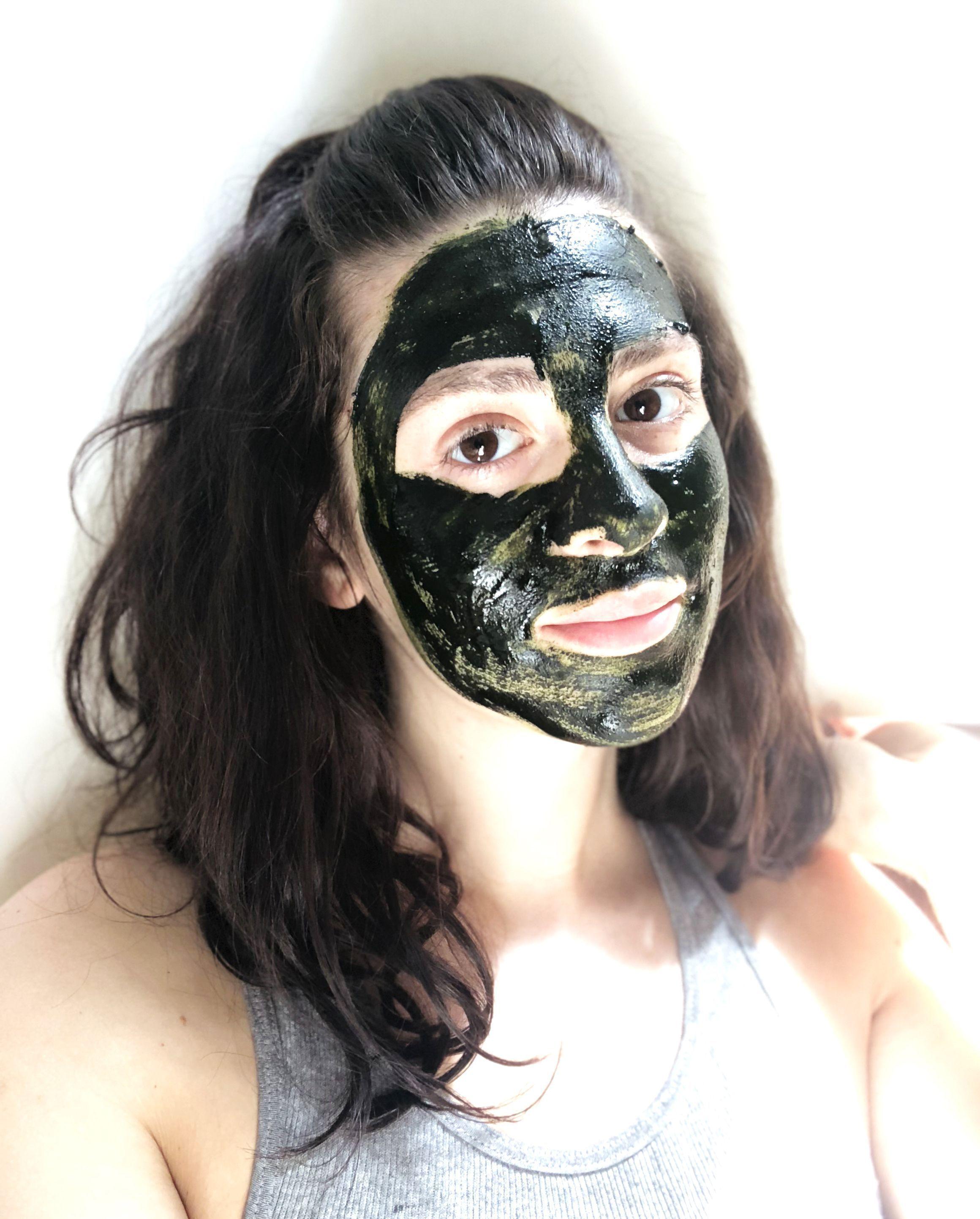 Diy chlorella face mask tumericfacemaskbeforeandafter
