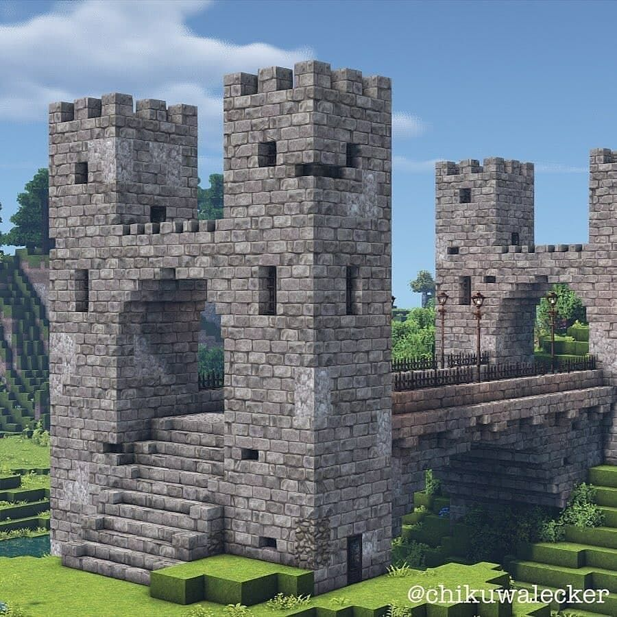Godalions Minecraft On Instagram   U201crate This Awesome Castle Bridge By  Chikuwalecker From 1 To