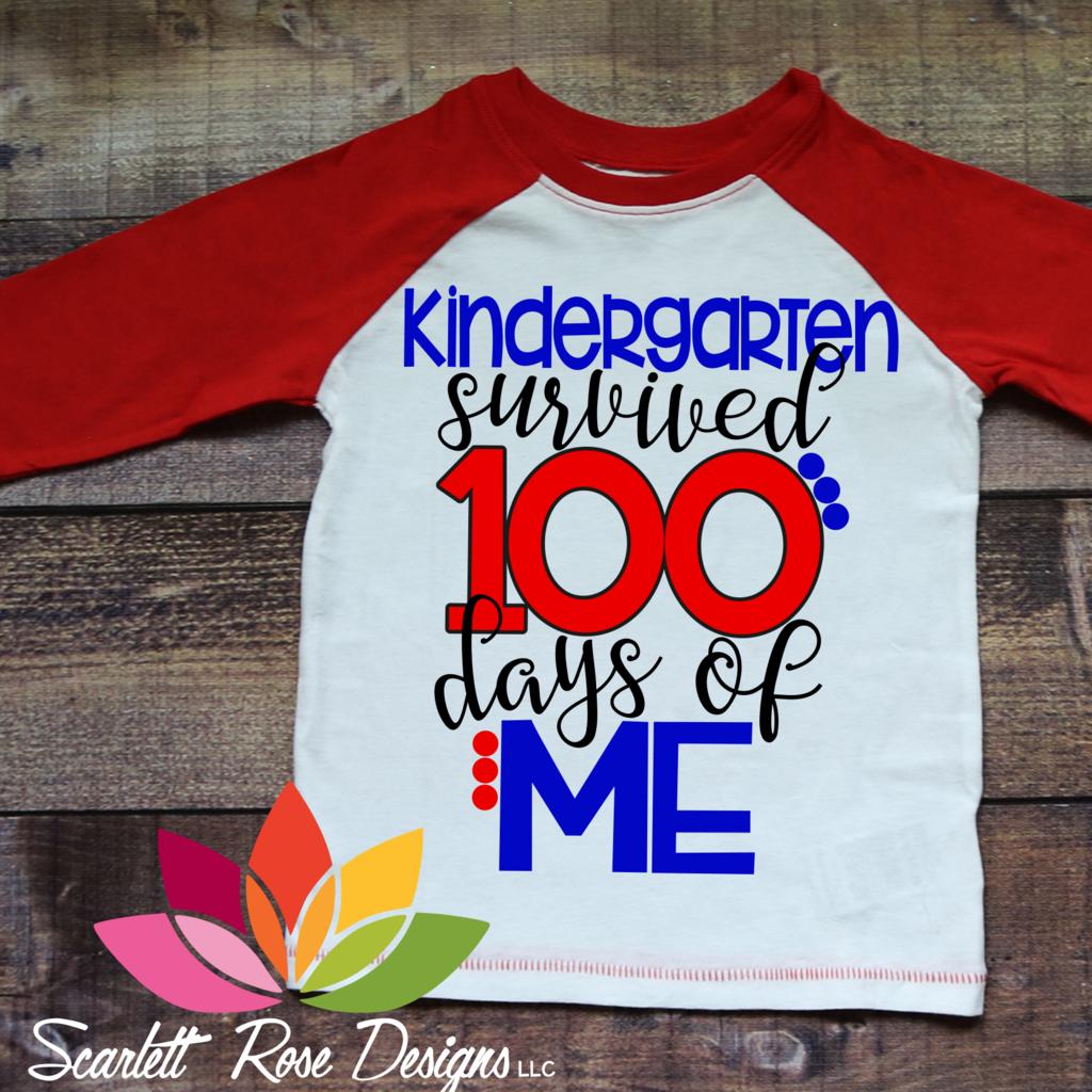 Kindergarten survived 100 Days of Me SVG 100 days of