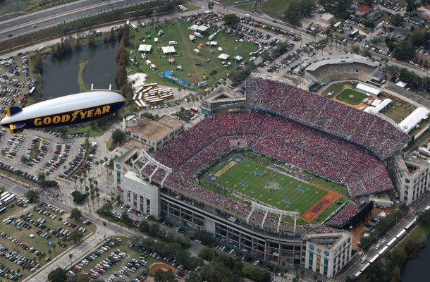 The Goodyear Blimp Provides Superior Aerial Coverage Over College Football (PRNewsFoto/The Goodyear Tire & Rubber Co.)