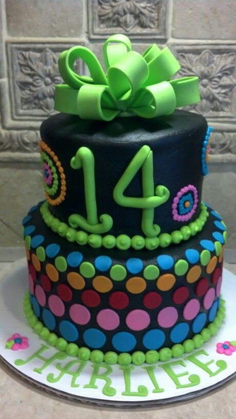 14th Birthday Cake Yummy Cakes 14th Birthday Cakes Birthday Cake