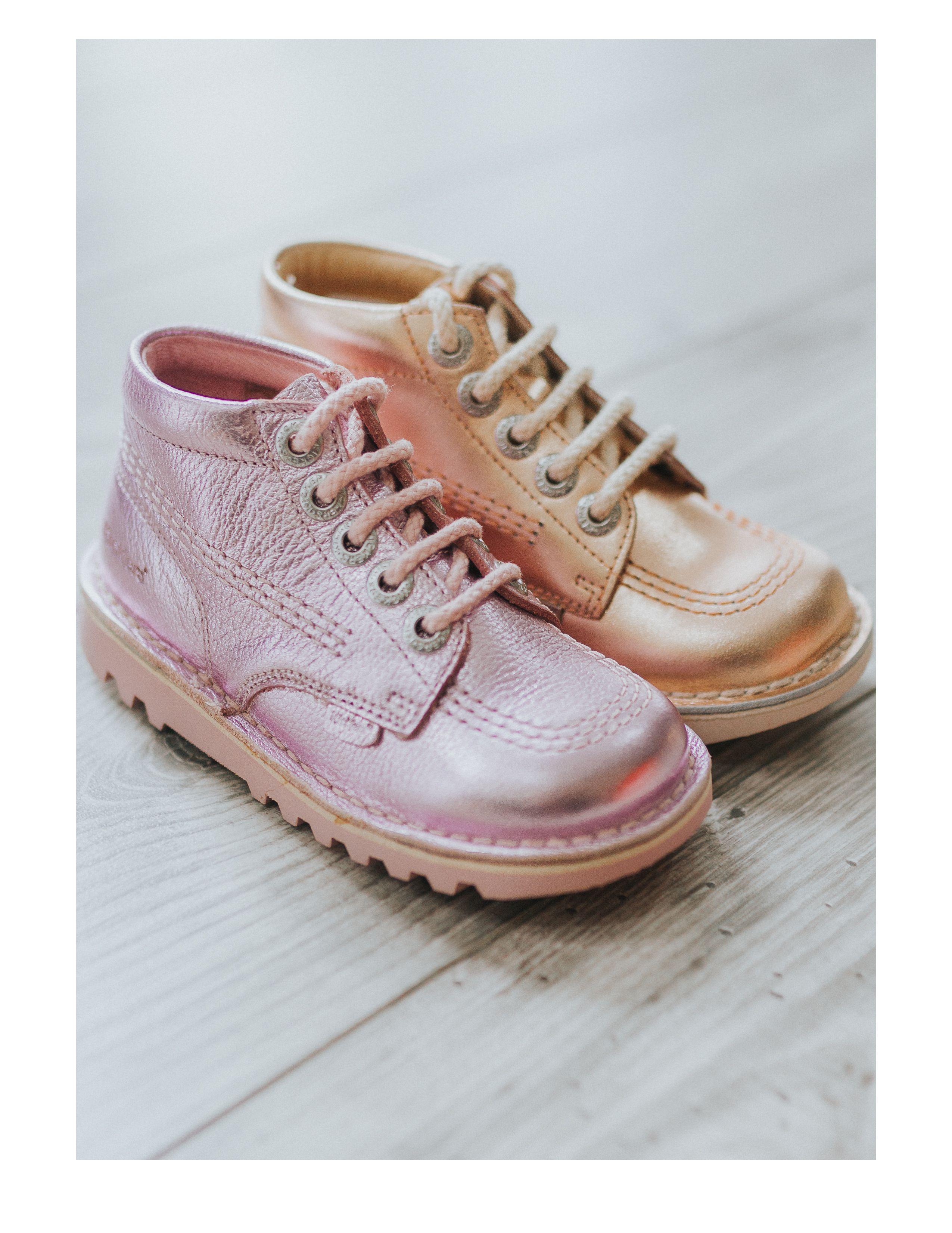 81b1c4c6ecb6 KicKers Kick Hi Infant Metallic Boots