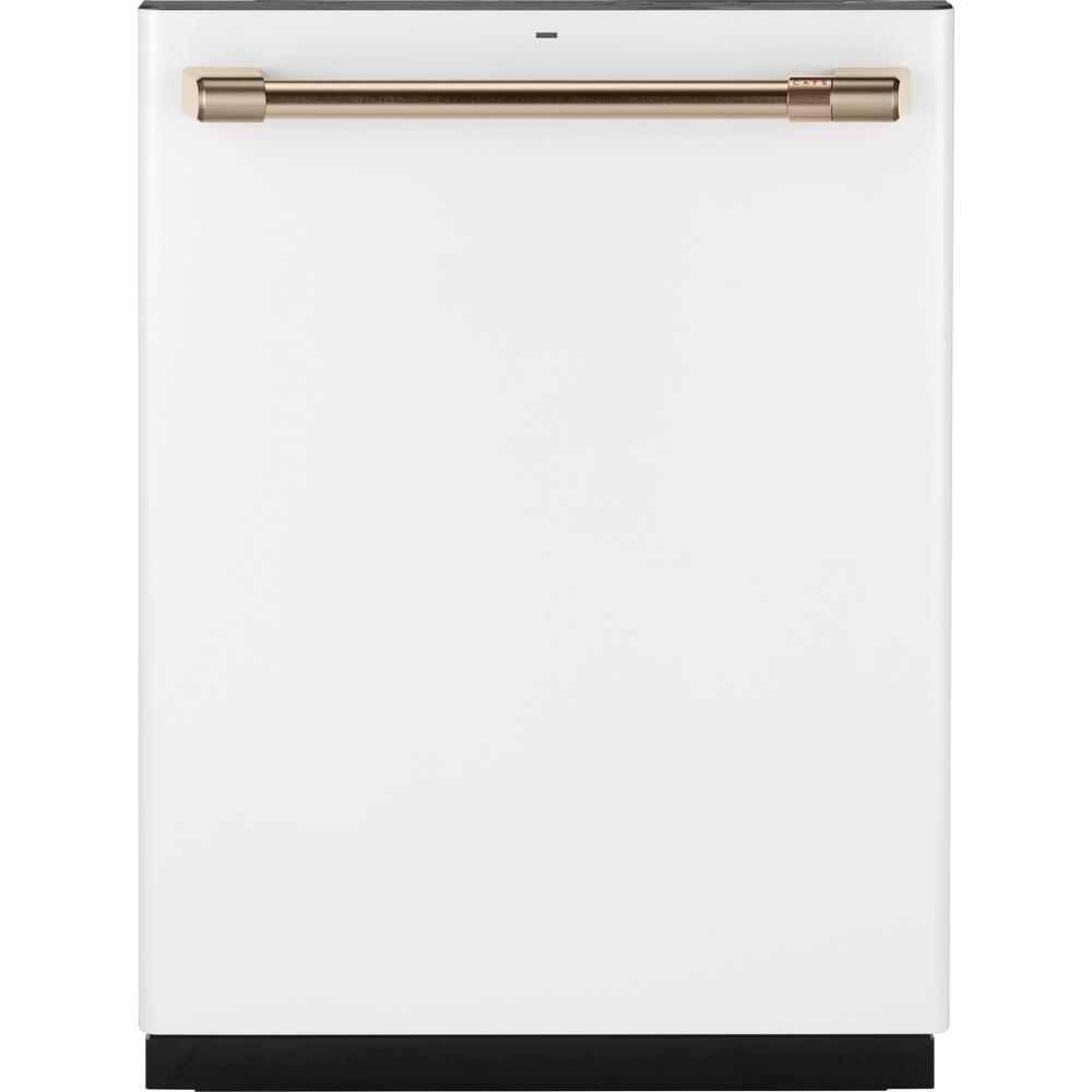 Cafe 24 In Fingerprint Resistant Matte White Top Control Smart Built In Tall Tub Dishwasher With 3rd Rack And Quiet 40 Dba Cdt866p4mw2 The Home Depot Built In Dishwasher Top Control Dishwasher