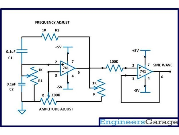 Variable frequency sine wave generator | Electronics in 2019
