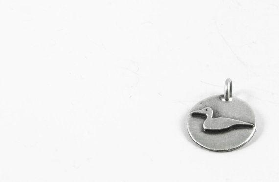 Handmade Sterling Silver 1/2 Laughing Loon by Kellygilligandesigns