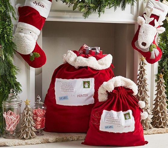 Letters To Santa Red Velvet Bags Pottery Barn Kids