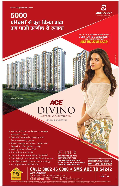 Deepika Padukone endorses ACE Park way and Divino ...