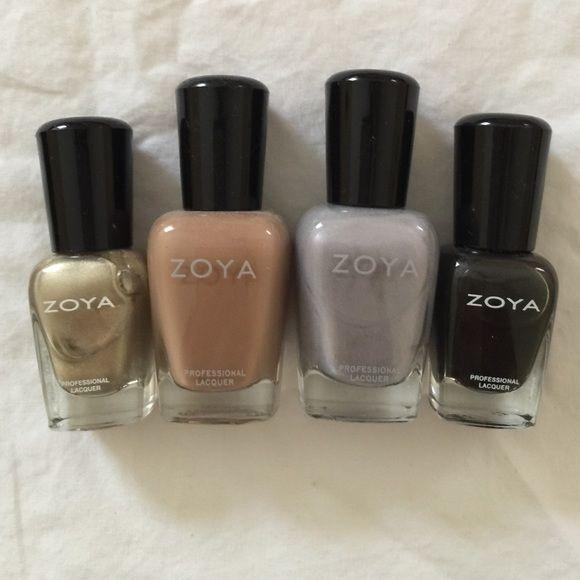 Lot of Zoya Nail Polish 4 Zoya nail polishes. 2 full size and 2 minis. All used once. Zoya Other