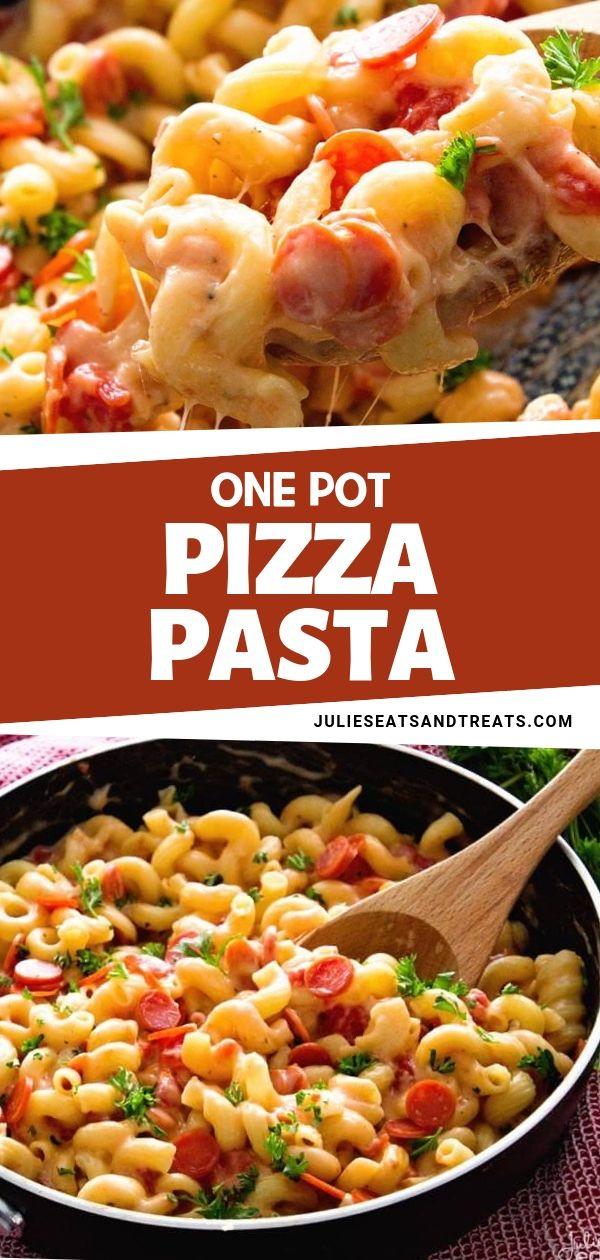 ONE POT PIZZA PASTA #easyonepotmeals