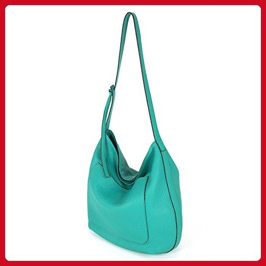 b1d2624572 Gianni Chiarini Italian Made Green Pebbled Leather Large Slouchy Hobo Bag -  Totes ( Amazon
