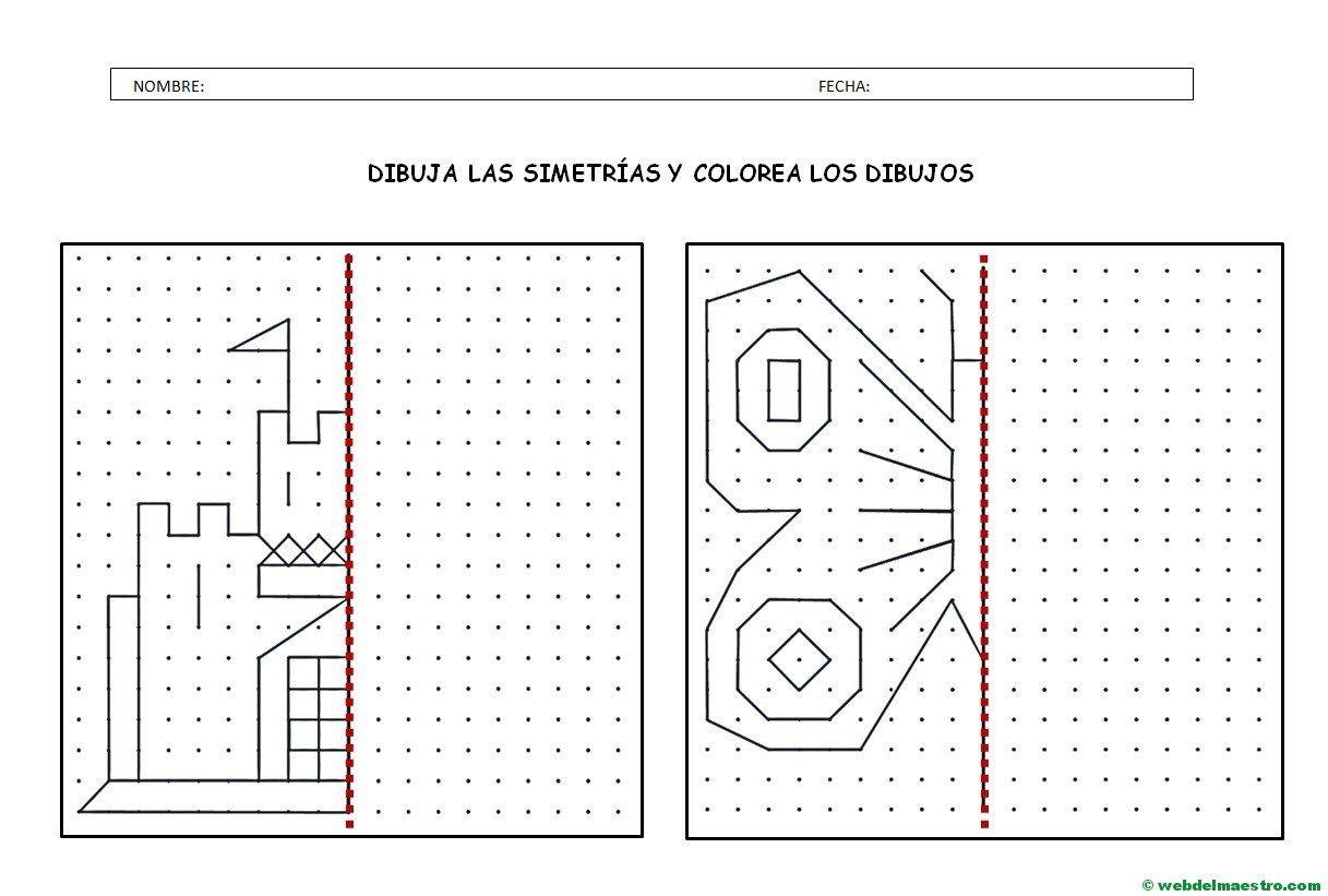 Simetría para niños de primaria Simetria Web del maestro y Material didactico primaria