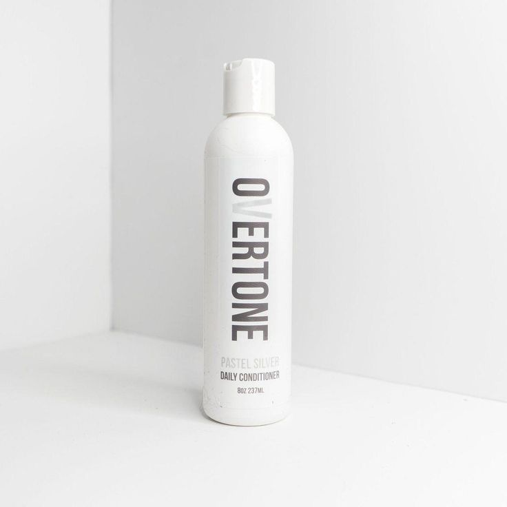 Fade no more with oVertone Pastel Silver color conditioner. Your silver hair dye