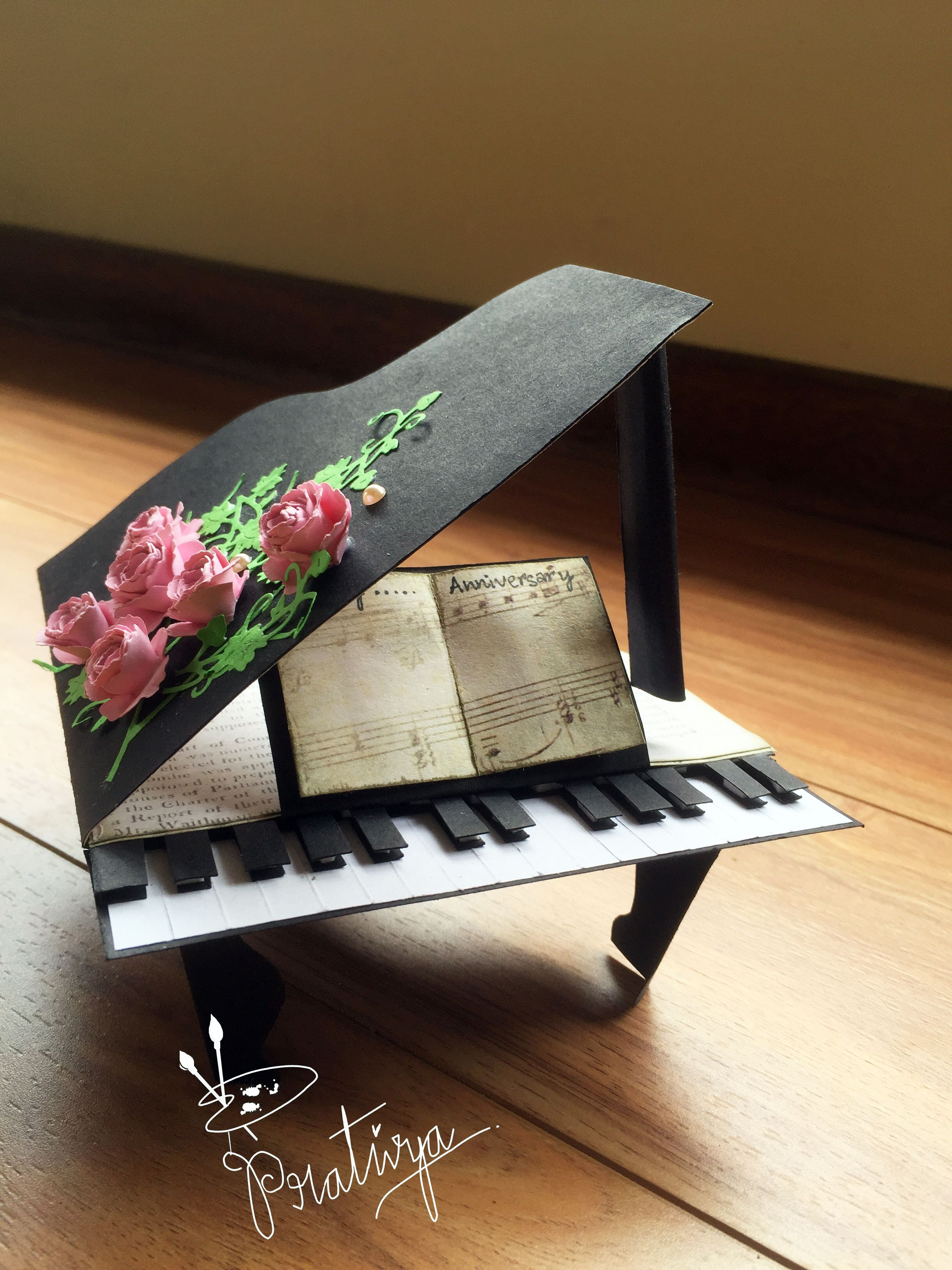 anniversary card birthday card card for music lover card for