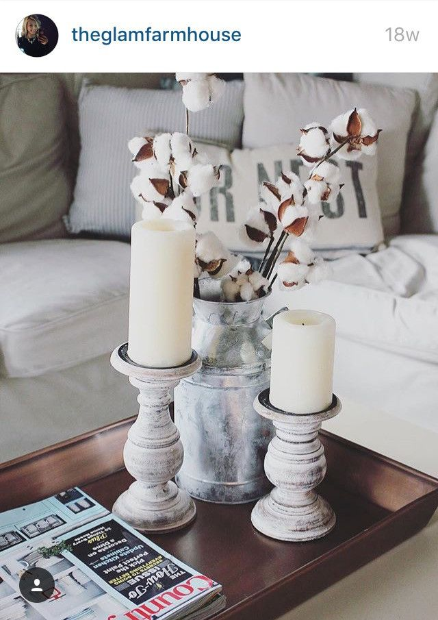 Cotton Stems Cozy Decor Living Room Decor Rustic Country House