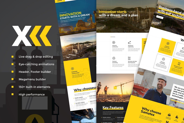 Samatex Industrial WordPress Theme + by