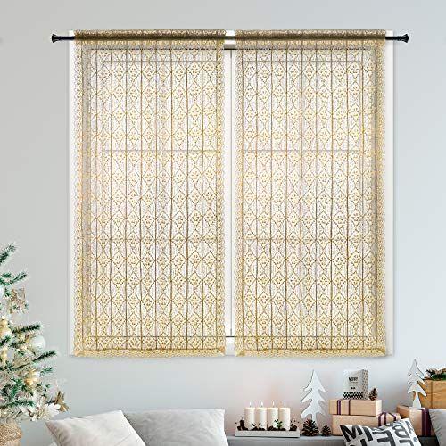 DOKOT Victorian Vintage Crochet Tie-Up Window Curtain Pan