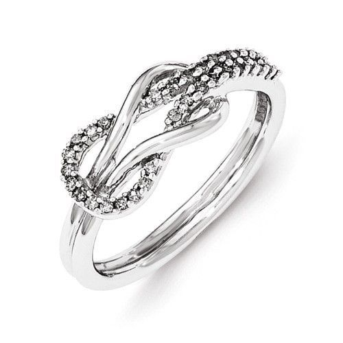 Sterling Silver Diamond Infinity Love Knot Ring Infinity symbol