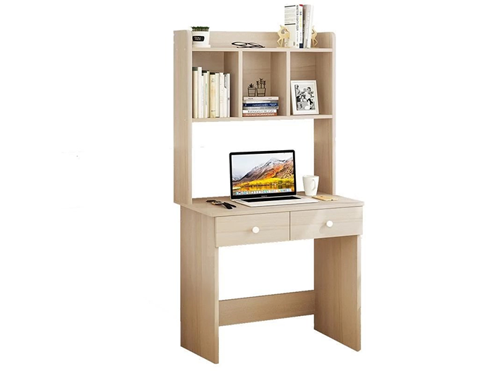 Office Furniture Wood Desk With Shelves 80 50 145 Modern Wood Desk Home Desk Wood Desk