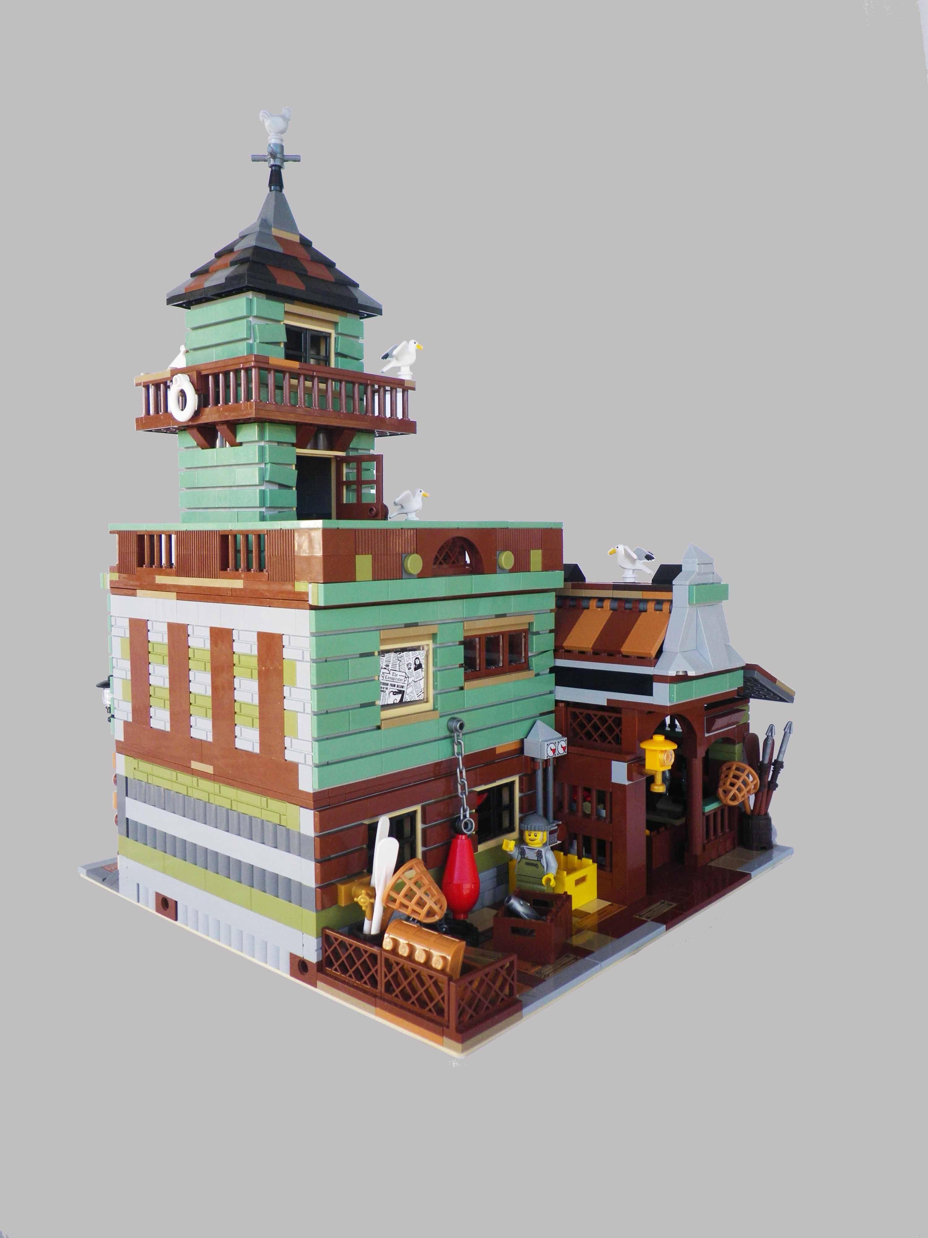 Lego Custom Moc Modular Antons Fish Market Alternate To Official