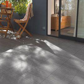 Carrelage Sol Et Mur Anthracite 45 X 45 Cm Oikos Carrelage Terrasse Carrelage Exterieur Carrelage