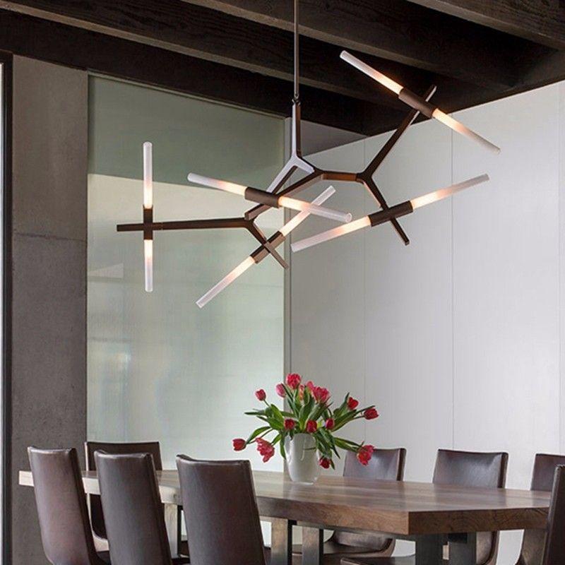 Modern minimalist led chandelier light rotatable branch nordic agnes modern minimalist led chandelier light rotatable branch nordic agnes with g9 aloadofball Choice Image