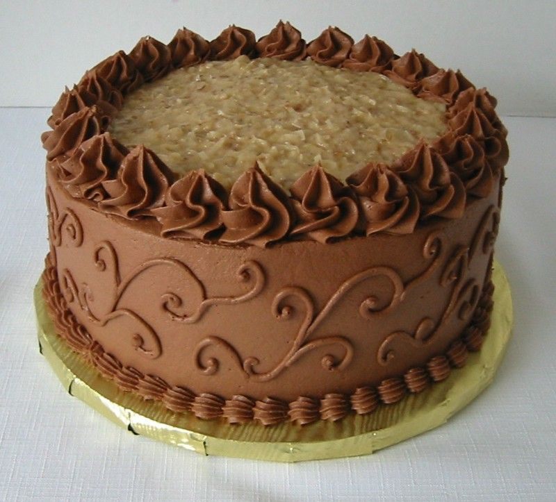 german chocolate birthday cake Decorated German ...