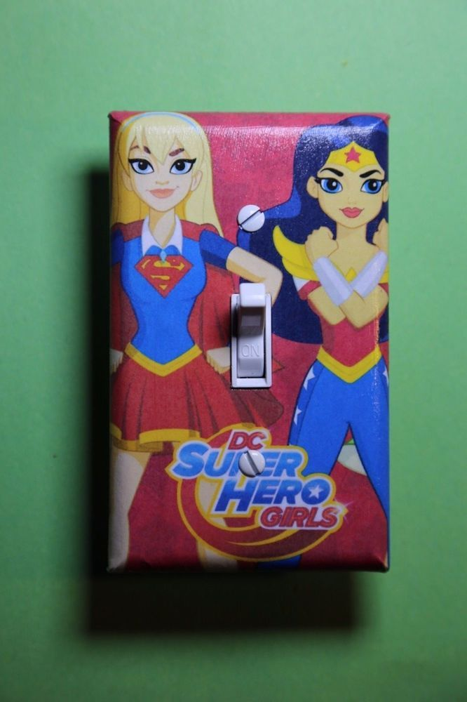 DC Superhero Girls Wonder Woman Batgirl Light Switch room home ...