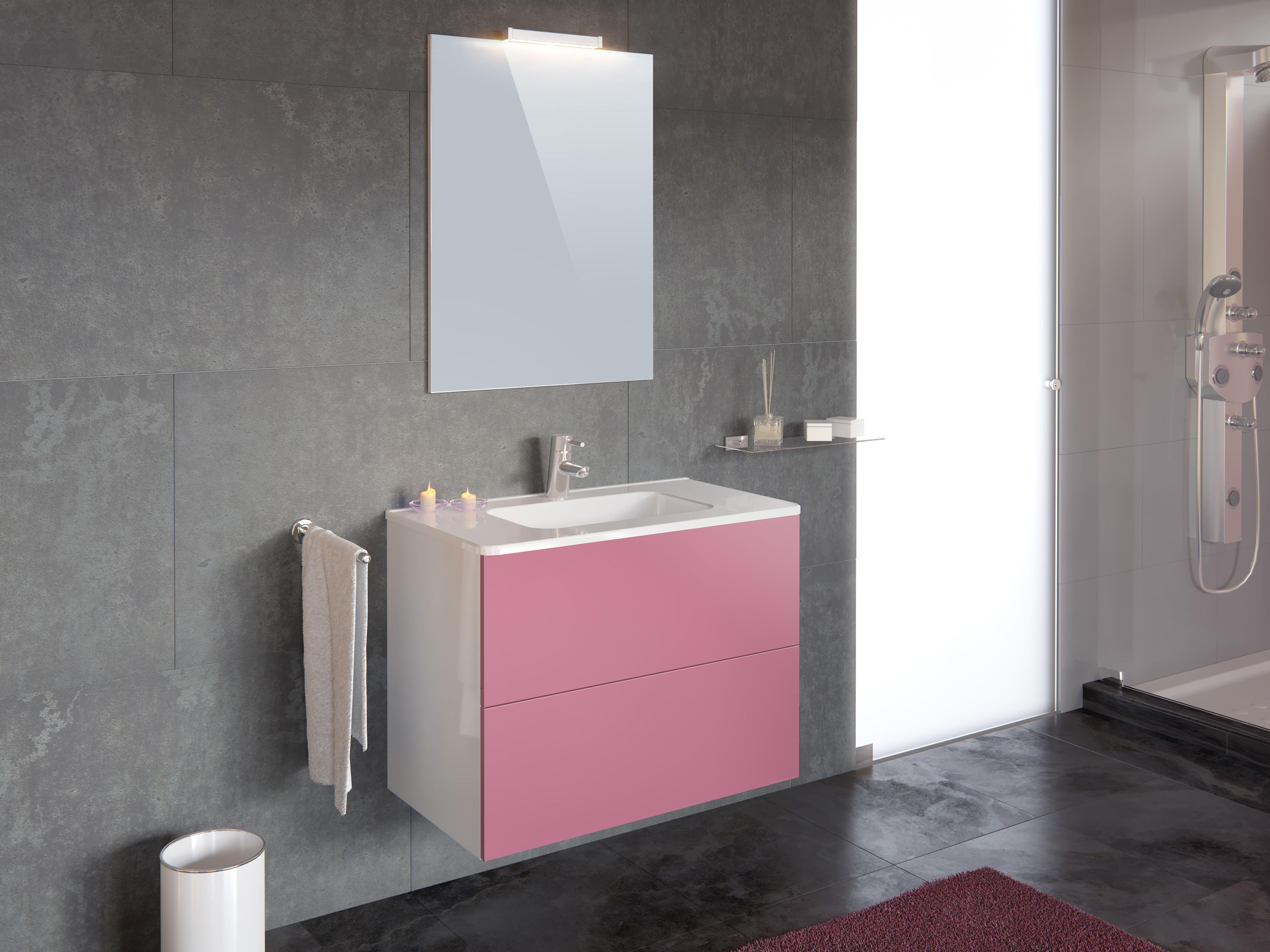 Ensemble de salle de bain TAHITI Rose